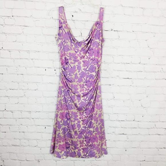 Diane Von Furstenberg Dresses & Skirts - Diane Von Furstenburg|Purple Floral Drape Dres